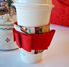 Christmas Coffee Cozy Starbucks Cozy Eco by CinnamonStixSundries.Etsy.com
