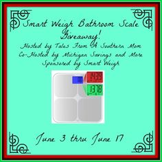Smart Weight Bathroom Scale Giveaway {ends 6/17} | Dorky's Deals