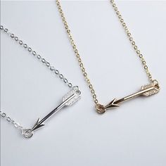 Arrived today Arrow Boho 16 in. L Necklace 5 available, 3 silver and 2 gold. Sweet and fashionable Boho style Arrow Necklace. Choice of gold or silver alloy. Lead and Nickel free.     Photo Credit to @shopwila Jewelry Necklaces