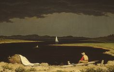 Martin Johnson Heade: Approaching Thunder Storm 1859 oil on canvas.