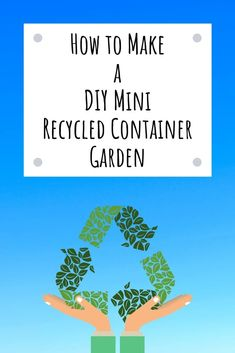 """Combine green recycling with green gardening through these fun ideas for using recycled materials in the garden. Recycled materials make for fun and interesting garden containers. Turn """"junk"""" into charming gardening containers. Science Lessons, Science Activities, Activities For Kids, Nature Activities, Recycling Containers, Container Gardening, Gardening Books, Outdoor Crafts, Outdoor Fun"""