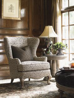 Recreate the elegance of 17th century decor with the traditional Chapelle wing chair. Classic Queen Anne cabriole legs give the piece a sturdy base with shapely charm. As they did centuries ago, winged sides help to protect the sitter against drafts, while also offering a more private spot to curl up with a book. Traditionally styled for a look that is even more stately and elegant today, the Chapelle wing chair helps you recreate a piece of history in your own home.