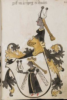 Wappenbuch des St. Galler Abtes Ulrich Rösch Heidelberg · 15. Jahrhundert Cod. Sang. 1084  Folio 214