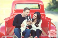 love, a vintage ford truck and a pup {engagement shoot} » Cean One Photography Blog