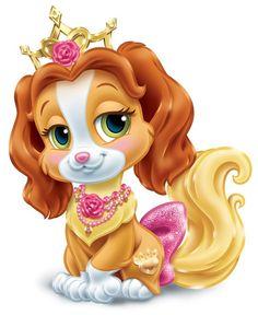 (site et textes en français) Disney Dogs, Disney Fun, Walt Disney, Disney Drawings, Cartoon Drawings, Cartoon Art, Princess Palace Pets, Animal Cutouts, Disney Princess Fashion