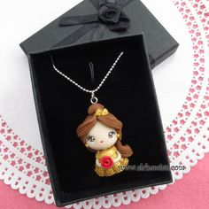 Belle necklace  Beauty and the Beast inspired princess