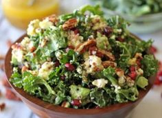 shares Most people think of having a salad for a lunch meal. It's light, refreshing, and a feel good health choice during a chaotic, stress-filled day. But this Kale Quinoa Salad with Lemon Vinaigrette is so satisfying and filling that even the heartiest eaters can enjoy it for lunch or dinner without wanting to eat... Read More