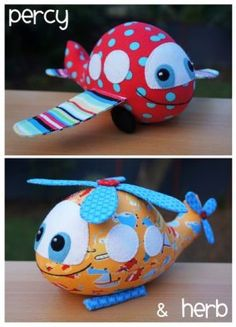 PERCY PLANE & HERB HELICOPTER SOFTIES MELLY & ME PAPER PATTERN