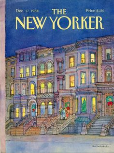 """""""The New Yorker"""" cover by Iris Van Rynbach, December 17, 1984"""