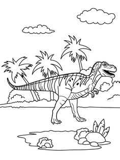 eoraptor coloring pages | coloring page Dinosaurs 2 - Spinosaurus | coloring ...