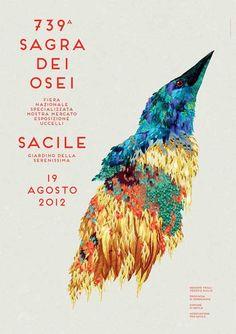 Festival Poster Designs Graphic design and illustration for Italian folklore festival and bird fair Sagra dei Osei 2012.