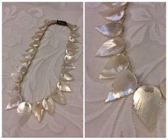 Vintage Mother Of Pearl Necklace. c1950s Jewellery.