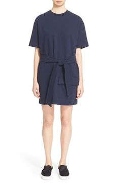 MSGM Belted Cotton Sweatshirt Dress. #msgm #cloth #