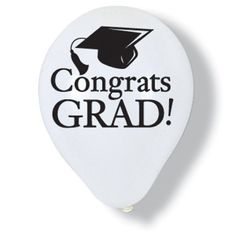 Congrats Grad White Graduation Latex Balloons Party Accessory >>> Click on the image for additional details. (This is an affiliate link)