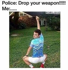 Police: Drop your weapon
