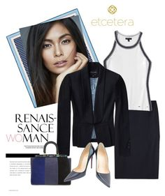 """""""Spring Etcetera 2017: Evita Suit with Arena Tank"""" by timirac on Polyvore featuring Salvatore Ferragamo, Etcetera, Tory Burch and Christian Louboutin"""