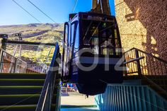 Qdiz Stock Images Cableway or Funicular Cabine on Platform
