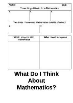 Student Self AssessmentMath For After Tests  Classroom Math