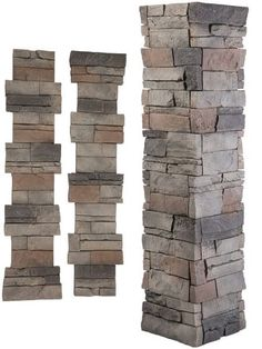 GenStone pillar panel kits can be installed in minutes! Improve the curb appeal of your home or business today with these easy DIY faux stone pillar kits.