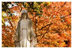 Photo Print of a Statue During Fall5x7 print in 8x10 by VBeaudry, $20.00