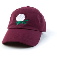 Rose Dad Hat Rose Baseball Cap Embroidered Hat Adjustable Baseball Cap... ($19) ❤ liked on Polyvore featuring accessories, hats, cotton baseball caps, adjustable baseball hats, sun visor, embroidered hats and embroidered ball caps