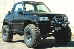 Trail Tough Suzuki Sidekick - Me and a friend bolted a Yogo body onto one of these that had been rolled. Funniest looking 4x4 ever.