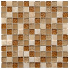 The SomerTile 12x12-in Reflections Square 1-in Amber Glass/Stone Mosaic Tile (Pack of 10) is now 10% off on Overstock.com! Get this beautiful stone and glass mix mosaic while you can.