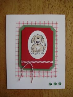 Christmas Dog using Stampin Up Bow Wow