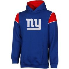 #fanatics New York Giants Youth Color Block Pullover Hoodie - Royal Blue