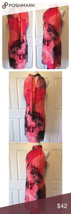 """JOSEPH RIBKOFF DRESS Beautiful Joseph Ribkoff dress, in like new condition. 🔹Keyhole back🔹Side Zip🔹Tie at neck that drapes down the back🔹Lined🔹Size 10: 38"""" bust, 38"""" length, 37"""" waist🔹NO trades🔹Smoke free home🔹Bundle discount: 10%!off two, 15% off three🔹Thank you for stopping by💕 Joseph Ribkoff Dresses"""