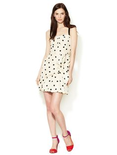 Hot Dot Printed Silk Dress by Marc by Marc Jacobs at Gilt