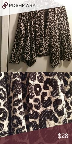 Forever 21 Waterfall Cardigan Leopard in a Waterfall Cardigan...what else needs to be said. Forever 21 Sweaters Cardigans