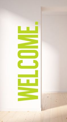 WELCOME. WALL DECAL van TheLovelyWall op Etsy