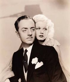 "William Powell & Jean Harlow ~ Sure wish they could have lived out their ""Happily Ever After."""