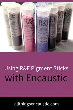 I approached using R&F Pigment sticks with a bunch of questions. I found many of my answers on the R&F Website. Maybe you have some of the same questions