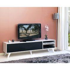 Sopra Meuble TV style scandinave coloris noir/blanc L165cm