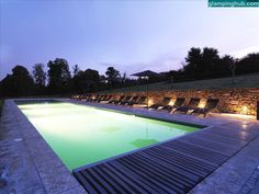 Gorgeous pool in glamping resort in France