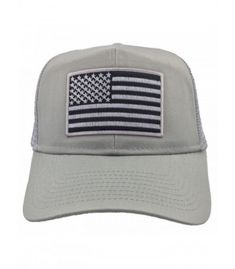 a5fecd04f American grey flag mesh usa trucker cap - cu1856m0230