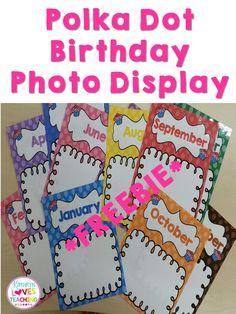 Freebie Photo Birthday Display