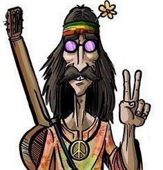 Groovy ~ Hippie Culture Cartoon