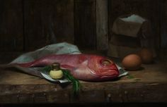 Fish Fry - Oil on Linen by David Gluck - SOLD