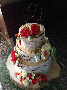 Birch Tree Wedding Cake on Sweetopia