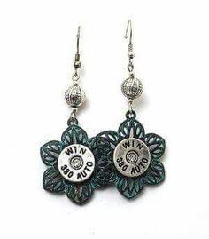Graceful Drop Design for Women & Girls. Bullet Earrings, Bullet Jewelry, Drop Earrings, Bullet Casing Crafts, Bullet Art, Bead Crafts, Shells, Beads, Jewlery