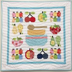 Another quilt from my book Farm Girl Vintage hanging on the wall…