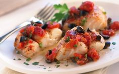 Baked Cod with Tomatoes and Olives