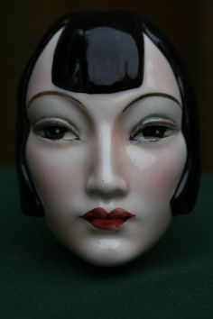 STUNNING ROYAL BELVEDERE AUSTRIA ART DECO FACE MASK OF THE HEAD OF FEMALE c1930s