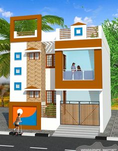 House Front Wall Design, Single Floor House Design, Front Gate Design, Home Stairs Design, Village House Design, Floor Design, Indian House Exterior Design, Kerala House Design, Unique House Design