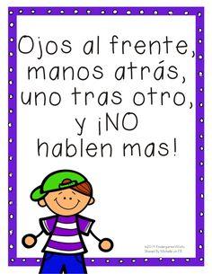 11 Fun and Simple Hallway Transitions for Kindergarten Bilingual Kindergarten, Bilingual Classroom, Bilingual Education, Kindergarten Classroom, Bilingual Centers, Elementary Spanish Classroom, Kindergarten Writing, Preschool Spanish, Spanish Teaching Resources