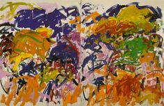 Joan Mitchell - Ici 1992 diptych oil canvas *one of her last paintings I think