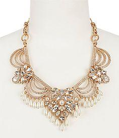 Belle Badgley Mischka Fancy Pearl Tassel Statement Necklace #Dillards